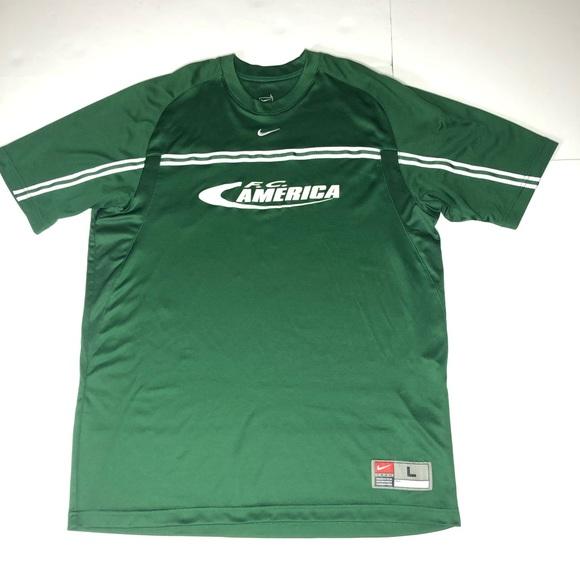 best service fe55c e8980 rare Nike team FC America Soccer Jersey #7 Mexico